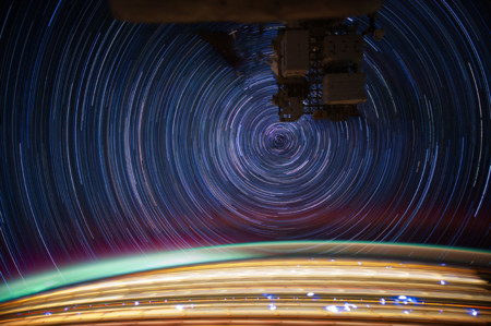 International Space Station Star Trails Jsc2012e0526842