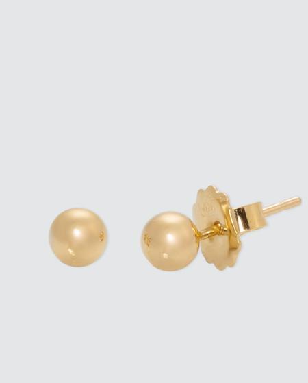 Pendientes Vidal & Vidal Nudo chapados en oro