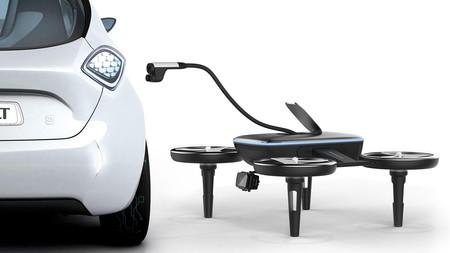 Volt es un dron para recargarlos a todos (a todos los coches eléctricos)