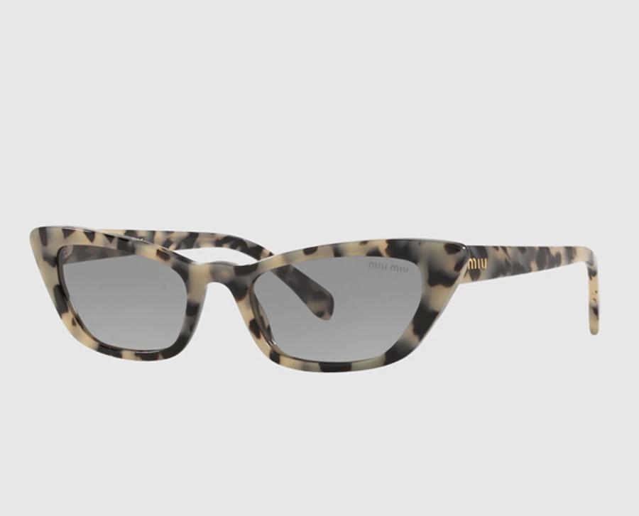 Gafas de sol de mujer Miu Miu cat eye de acetato en havana gris