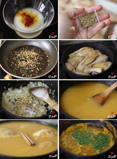 Cómo hacer un estofado marroquí de pollo