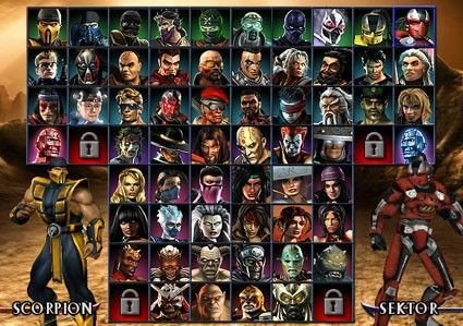 Mortal Kombat Armageddon: personajes