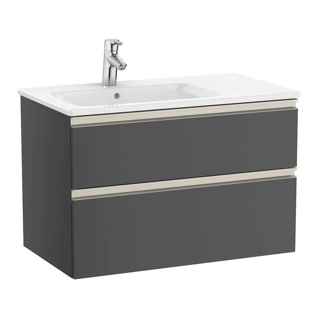 Mueble de baño con 2 cajones y lavabo a la izquierda The Gap Roca
