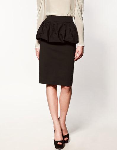 falda peplum larga