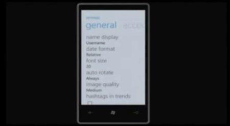 Twitter para Windows Phone 7 ya disponible cazado en vídeo