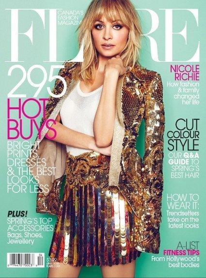 Nichole Richie en la portada de Flare nos muestra una belleza serena