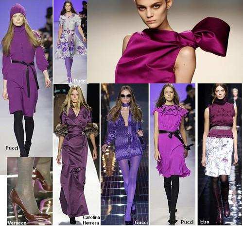 Este oto o invierno 08 09 se lleva el morado - Que colores combinan con el lila ...