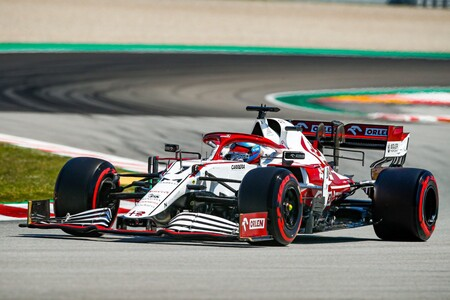 Raikkonen Barcelona F1 2021