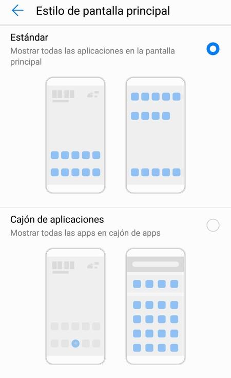 Cómo activar el cajón de aplicaciones