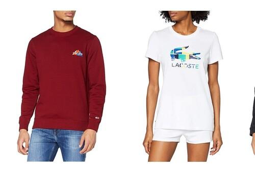 Chollos en tallas sueltas de camisetas, cazadoras, sudaderas o pantalones Tommy Hilfiger, Lacoste o El Ganso a la venta en Amazon