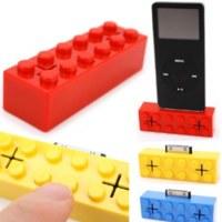 Mini altavoces para iPod con forma de bloque de construcción