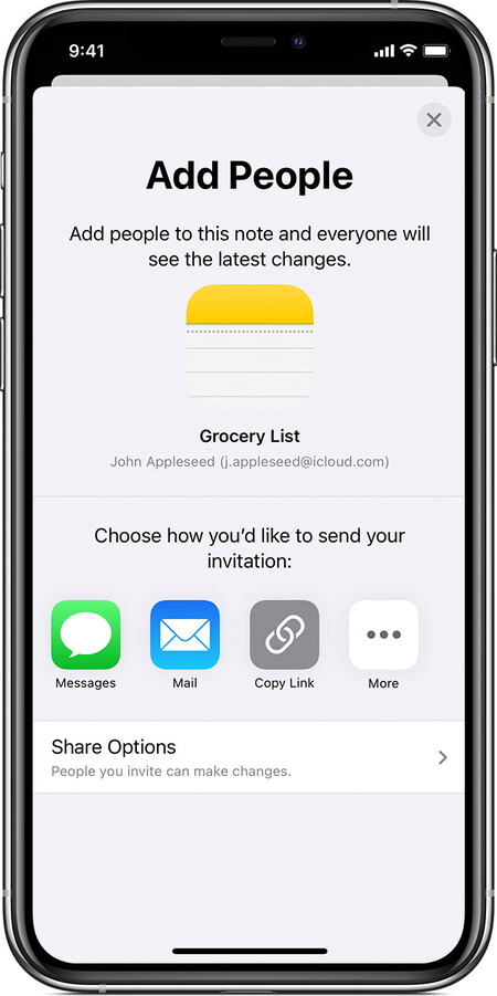 Ios14 Iphone11 Pro Notes Share Note