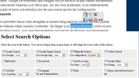 Select Search: selecciona un texto en Chrome y elige entre varios sitios para buscar