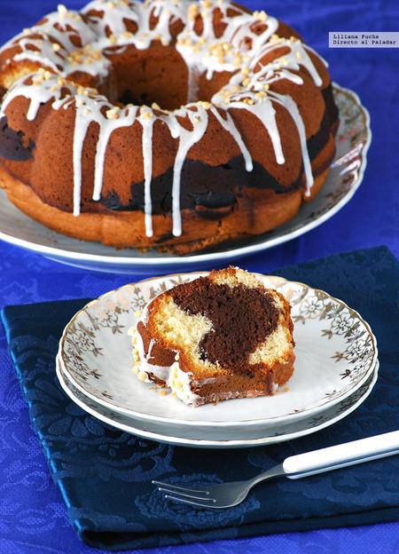 Bundt Cake marmolado de chocolate con mermelada: receta para un capricho de merienda