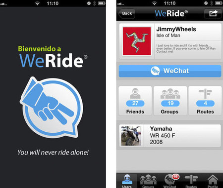 WeRide: los moteros ya tienen su propia red social para smartphone