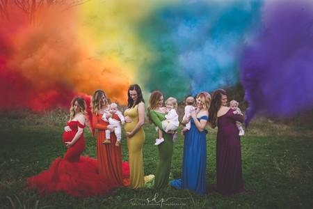 "La bonita foto de los bebés ""arco iris"" que llegan después de una pérdida"