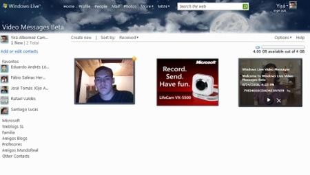 Windows Live Video Messages se actualiza y ofrece más espacio