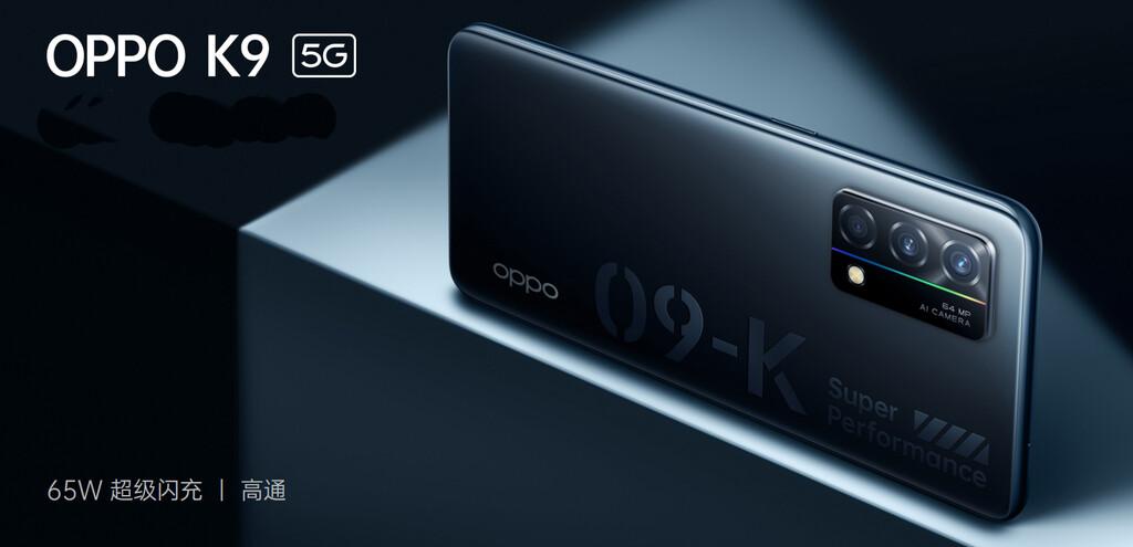 OPPO K9 5G: Snapdragon 768G y carga rápida de 65 W por menos de 300 euros