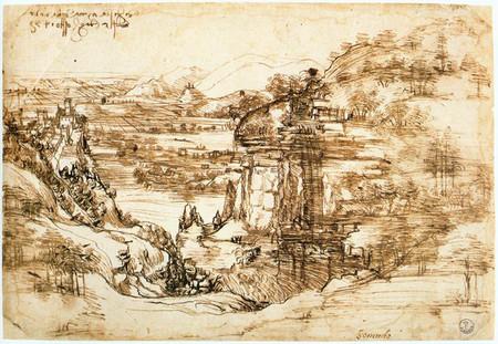 Paisagem Do Arno Leonardo Da Vinci