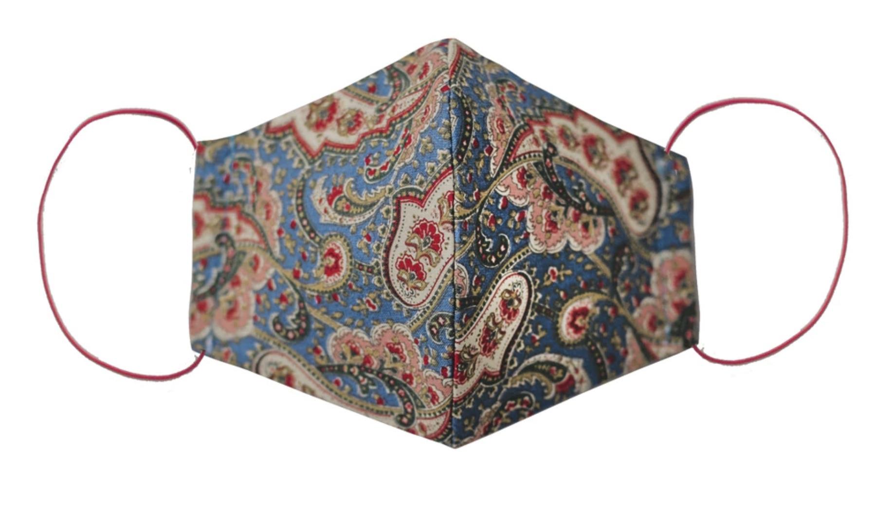 Mascarilla de tela higiénica reutilizable de tejido de algodón y filtro TNT.