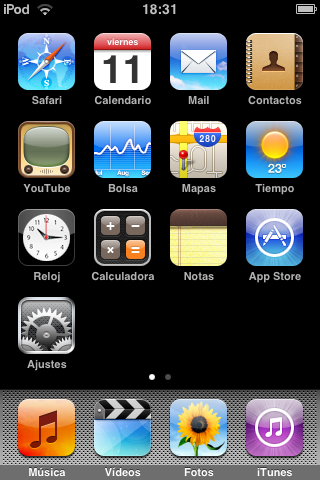 Firmware 2.0 para iPod touch: lo probamos
