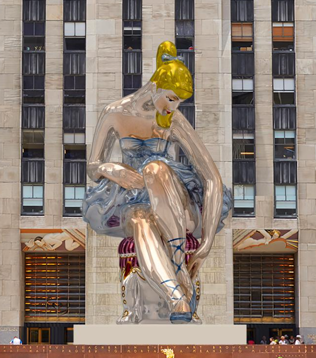 Una Bailarina Gigante Toma El Rockefeller Center