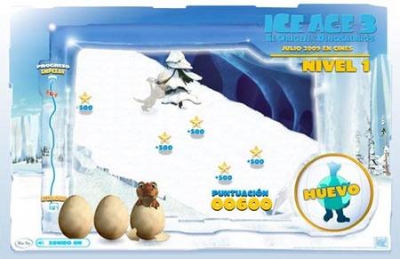"""Juego online de la película """"Ice Age 3"""""""