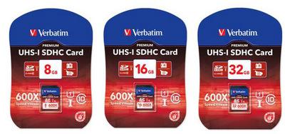 Nuevas tarjetas UHS-I de Verbatim (SDHC y SDXC)