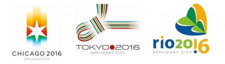 Los logos de las candidaturas olímpicas