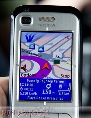 Navegador GPS en el Nokia 6110