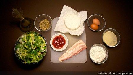 Ensalada camembert frito - ingredientes