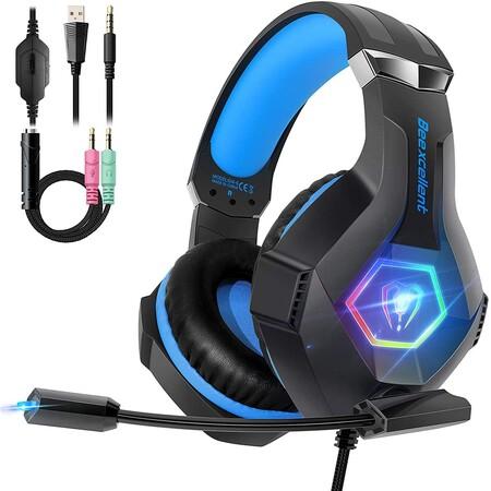 Cascos PS4 con Micrófono Flexible