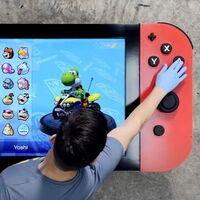 Un youtuber construyó el Nintendo Switch más grande del mundo: pesa 29 kilos, cuenta con pantalla LED 4K, joysticks y botones funcionales