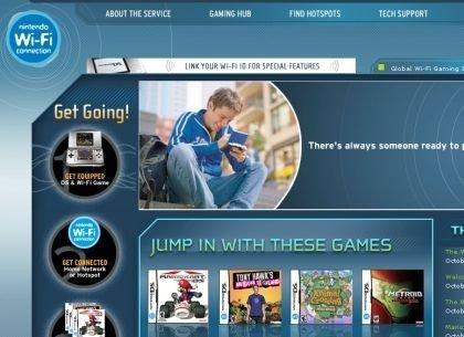 Nintendo DS WiFi: página web activa