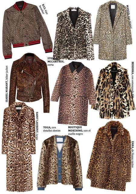 Abrigos Chaquetas Leopardo 2016
