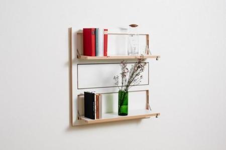 Una estantería minimalista que te proporciona espacio de almacenaje solo cuando lo necesitas