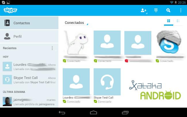 Skype contactos