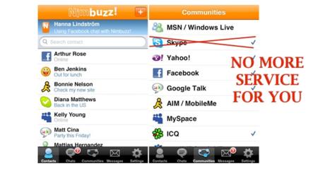 Batallas en el campo del VoIP: Skype bloquea el acceso de Nimbuzz a su red