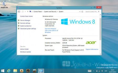 Acer Iconia W3 Sistema