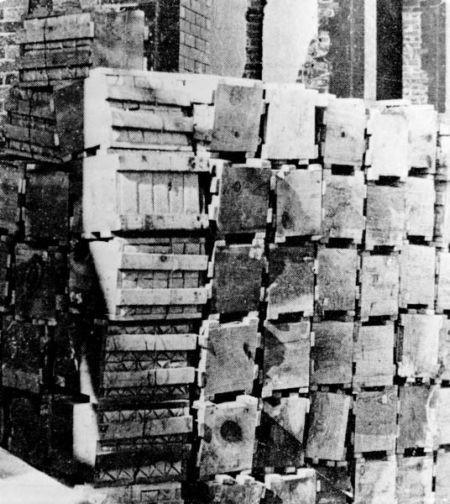 Ladrillos en cajas
