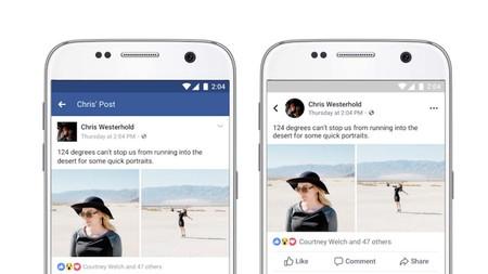 No, no le pasó nada a tu app de Facebook, este es su nuevo diseño