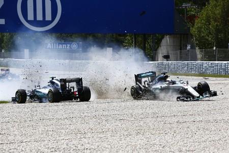 Rosberg Hamilton Accidente Espana