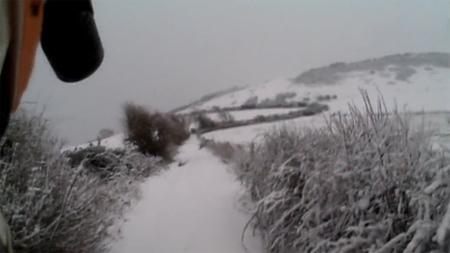Conduciendo (o casi) por la nieve