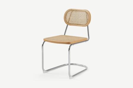 D37a7d23a95bbcb58d0a28731e31b1b4c1529b6f Chaleo001nat Uk Leora Dining Chair Cane Chrome Ar3 2 Lb01 PsSilla de comedor Leora, caña y cromo