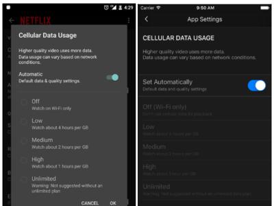 Netflix actualiza su aplicación para que sean los usuarios los que elijan la calidad del vídeo