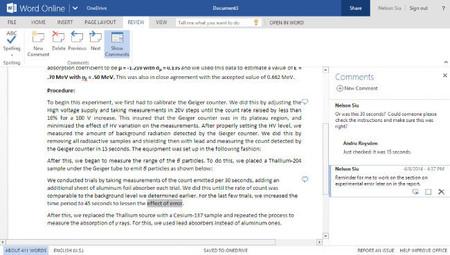 Microsoft actualiza Office Online con mejoras en cometarios, notas al pie e impresión