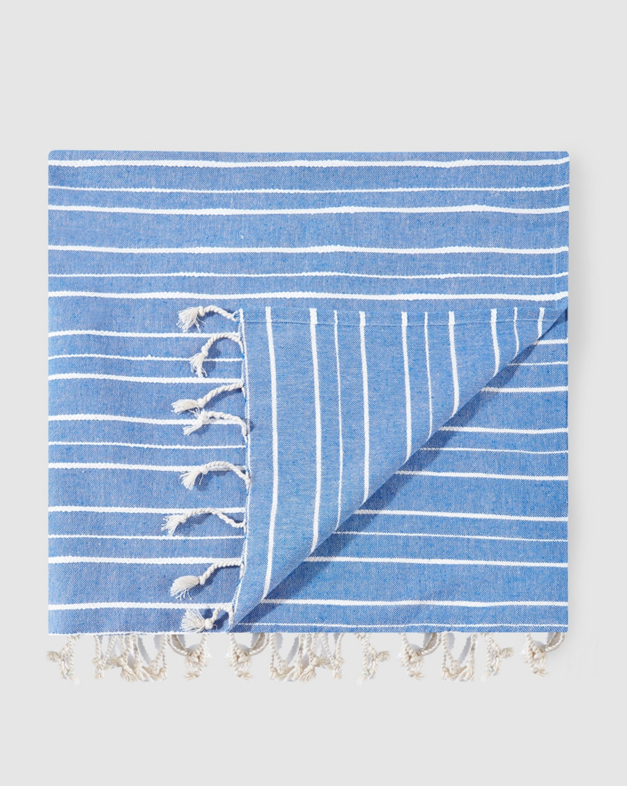 Kikoy de mujer Easy Wear rayas azul y blanco