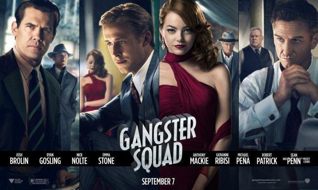 Imagen con el cartel de 'Gangster Squad'