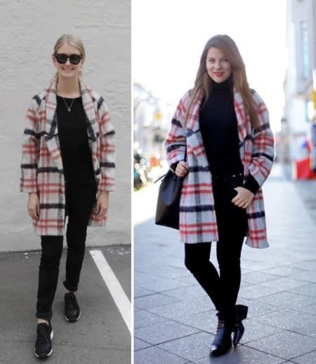 total look negro abrigo ganni