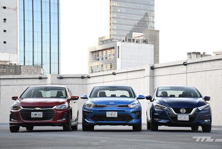 Nissan Versa Vs Chevrolet Onix Vs Kia Rio Mexico Opiniones Comparativa 6